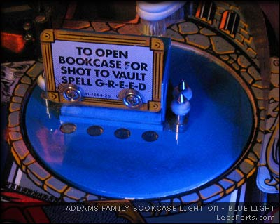 Bookcase Light for Addams Family Pinball Machine