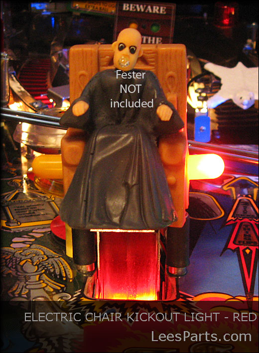 Electric Chair Kickout Light for Addams Family Pinball Machine - Red