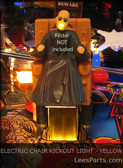 Electric Chair Kickout Light for Addams Family Pinball Machine - Yellow