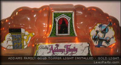 Gold Cloud Topper Light for Addams Family Pinball Machine