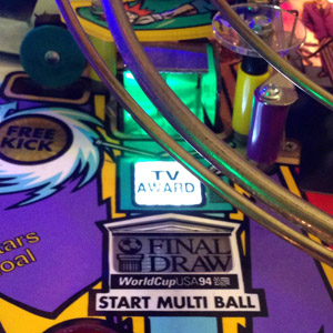 TV Award / Final Draw Scoop Light for World Cup Soccer 94 Pinball Machine - Green